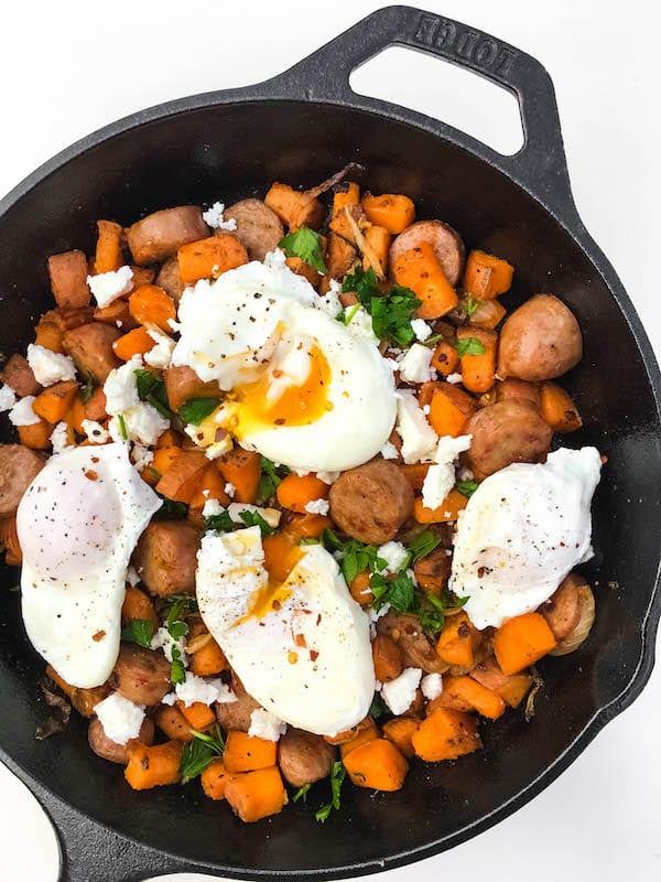 Sweet Potato Hash With Poached Eggs Baked Ambrosia