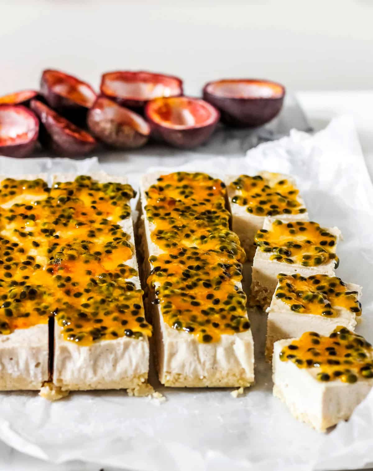 No Bake Coconut Passionfruit Bars Gluten Free Paleo