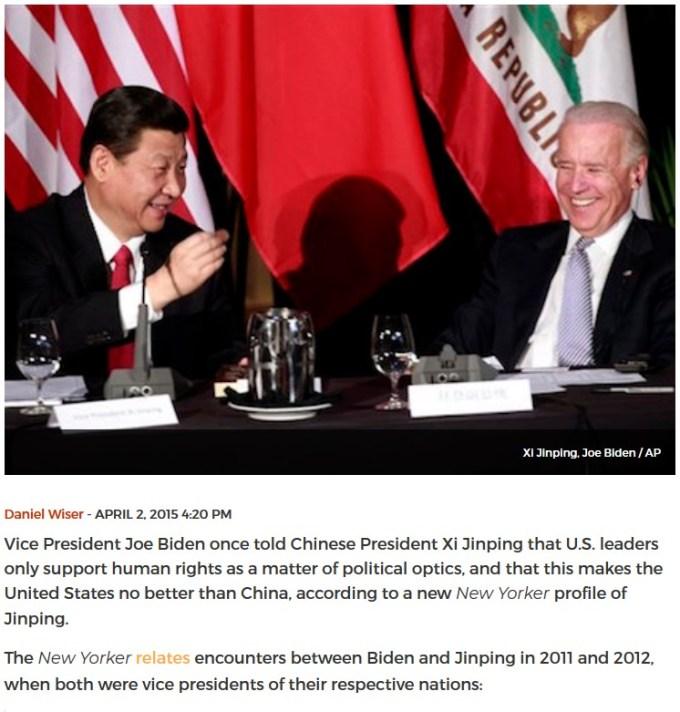 Xi Jinping with Joe Biden