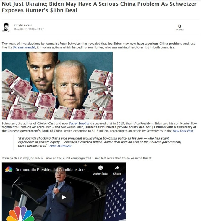 Joe Bidens Serious China Problem