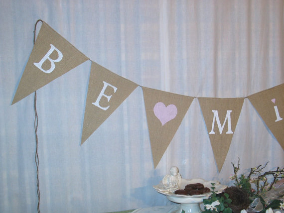Be Mine Banner ...Burlap Banner....Wedding Decoration