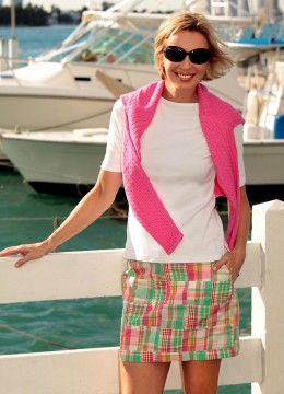 Women's Madras Fun Skirt