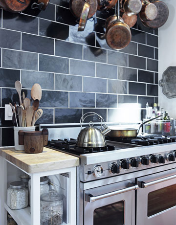 large stove and oven in the kitchen of tyler florence