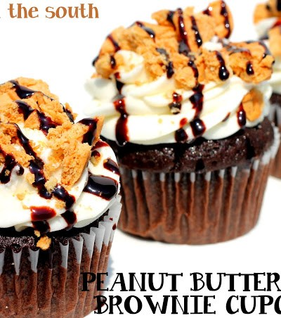 Peanut Butter Fudge Brownie Cupcakes