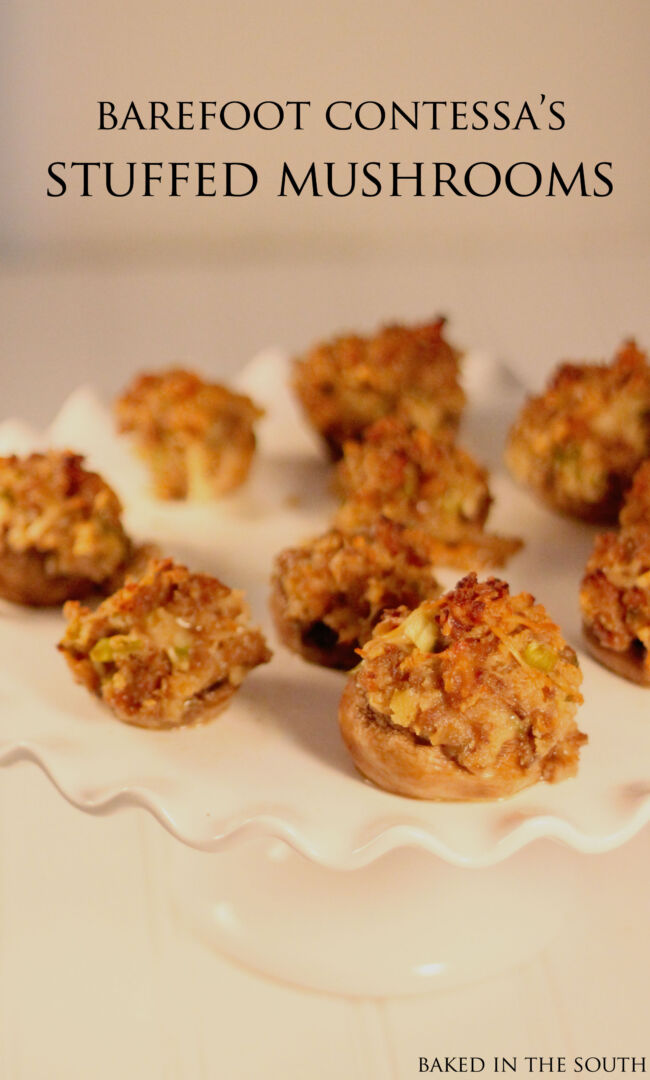 Ina Garten Appetizers Barefoot Contessa's Sausage Stuffed Mushrooms  Baked In The South