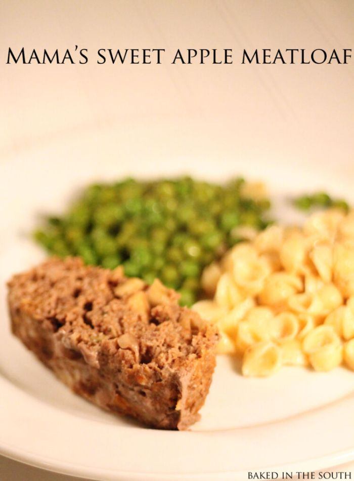 sweet apple meatloaf