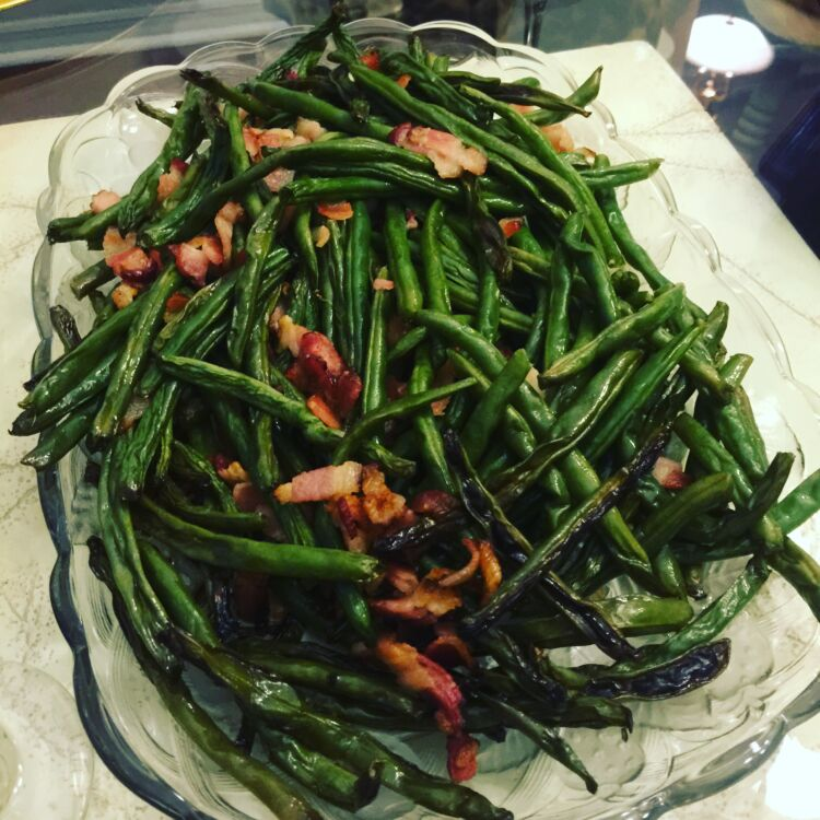 Bacon Roasted Green Beens