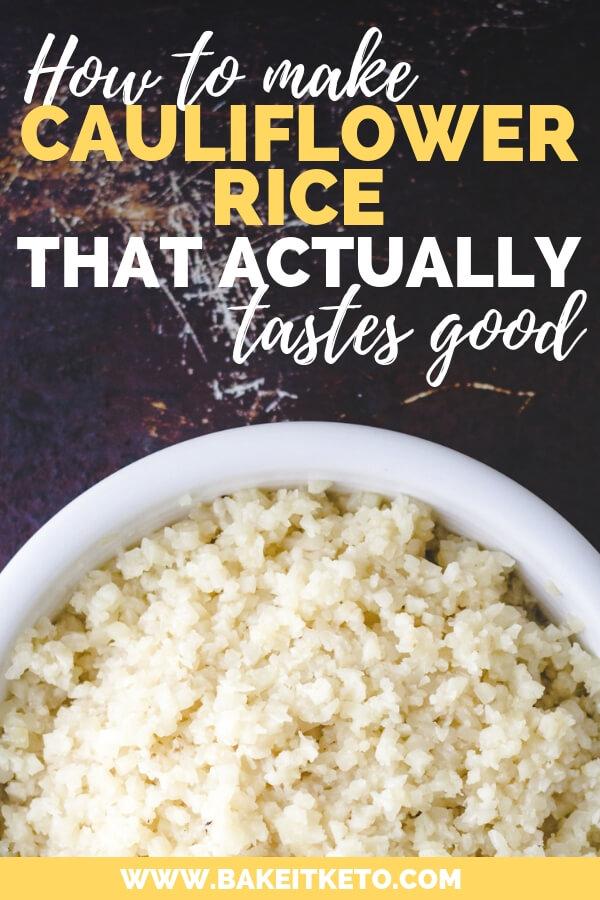 how to make cauliflower rice taste good