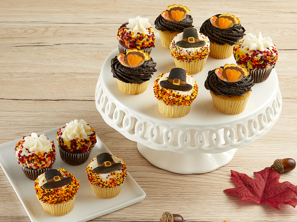 Bake Me A Wish! Mini Thanksgiving Cupcakes Delivery