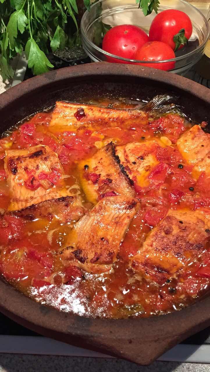 Tomato and Vinegar trout casserole