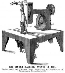 Primera Máquina de Coser Singer, 1851