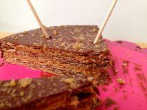 Tarta de Obleas de Chocolate y Caramelo