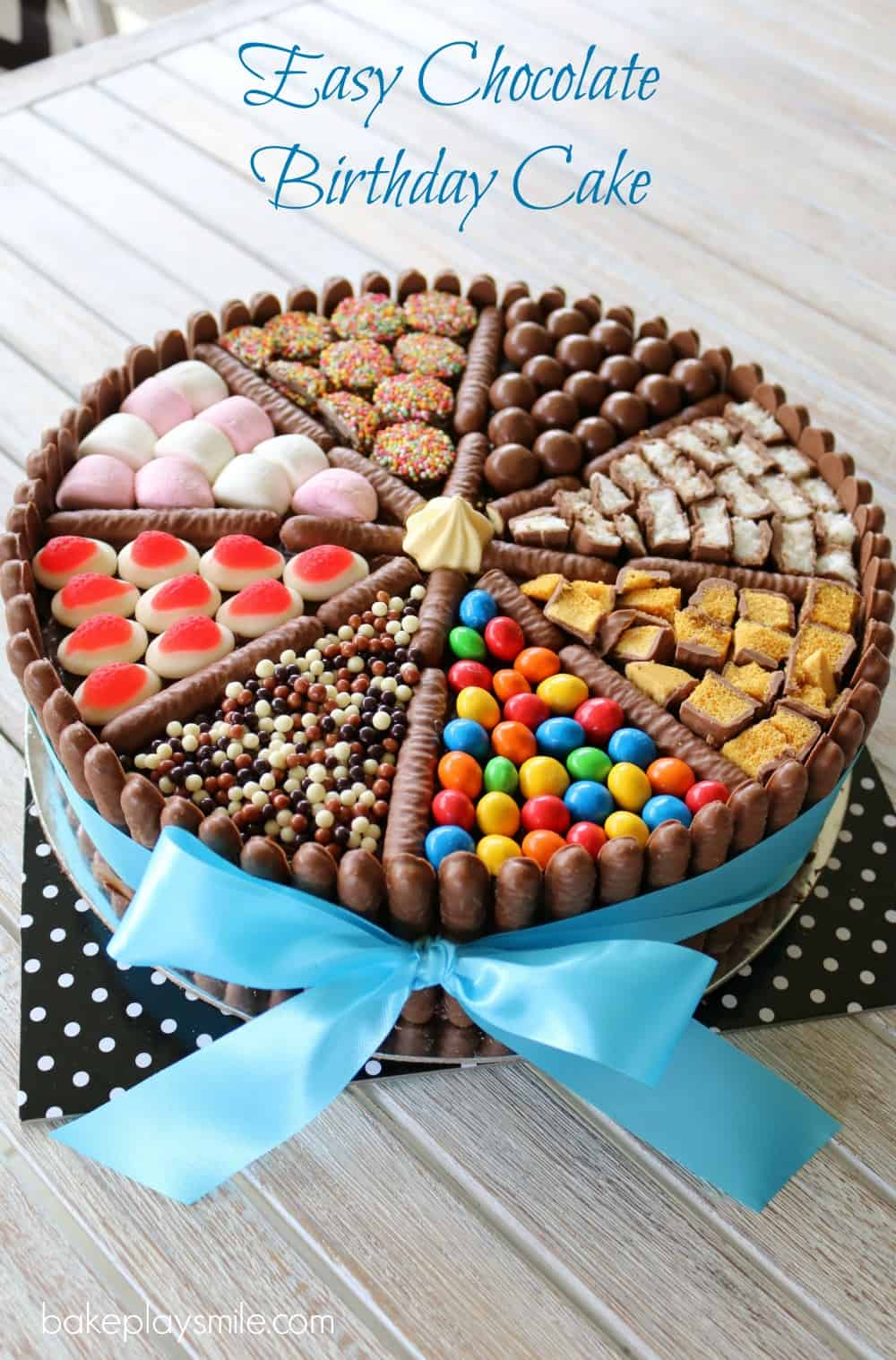 Easy Chocolate Birthday Cake Lollies Chocolates More Bake