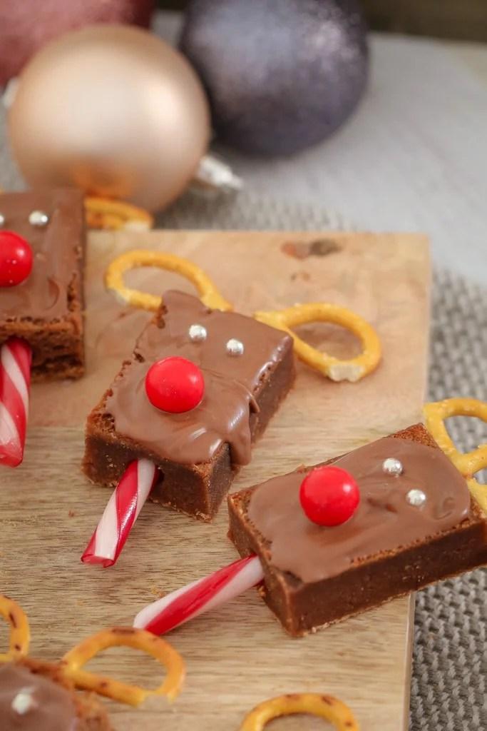 Super Easy Christmas Reindeer Brownies Bake Play Smile