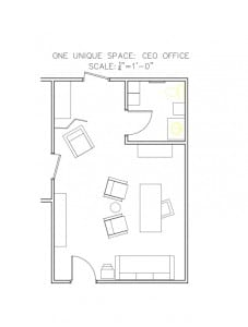 CEO Office Floorplan