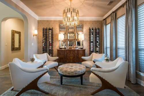 wine room design interior frisco