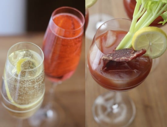 Champagne Cocktails- Bloody Mary with Beef Jerky