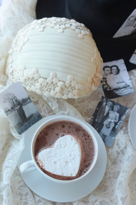 Homemade Marshmallows and Vintage Valentine Decorating Ideas