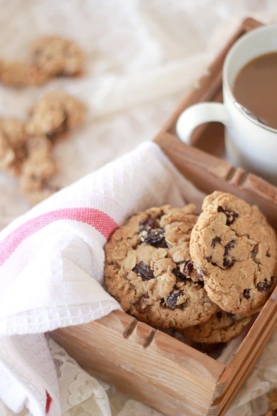 Oatmeal and Spiced Rum Raisin Cookies with Whole Wheat Flour