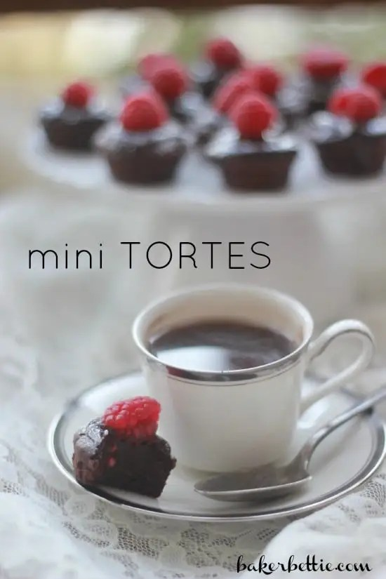 Mini Flourless Chocolate Tortes