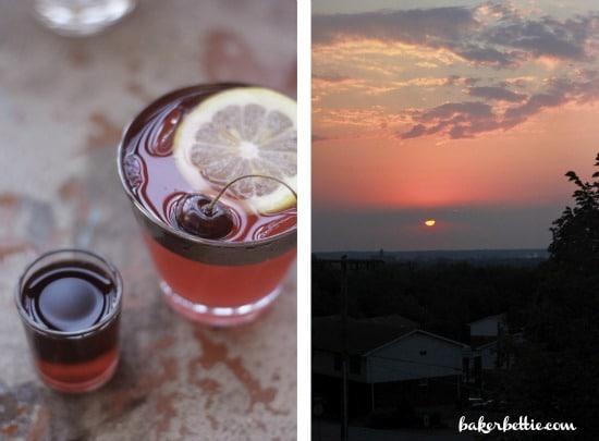 Spiced Rum Cherry Lemonade