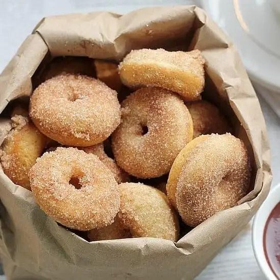 Baked Mini Donuts Recipe Cinnamon Sugar Doughnuts Baker