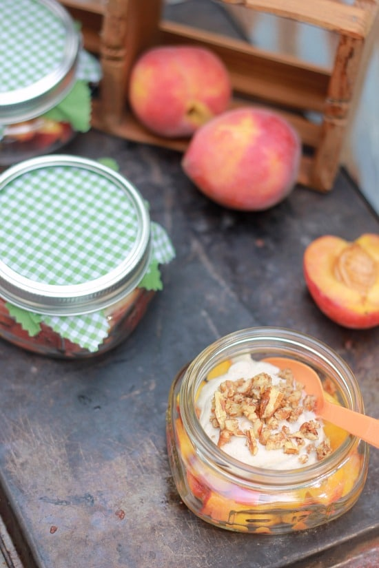 Peaches and Cream (raw, vegan)
