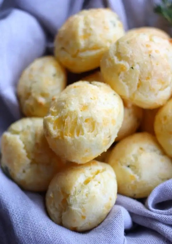 Sharp Cheddar and Thyme Cheese Puffs (Gougère)- Baker Bettie