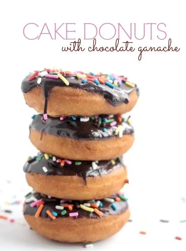 Cake Donuts with Chocolate Ganache- Baker Bettie