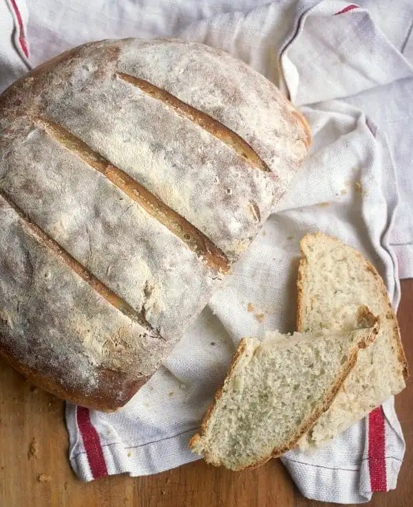 Easy Bread Recipe, Rustic Yeast Bread | Baker Bettie