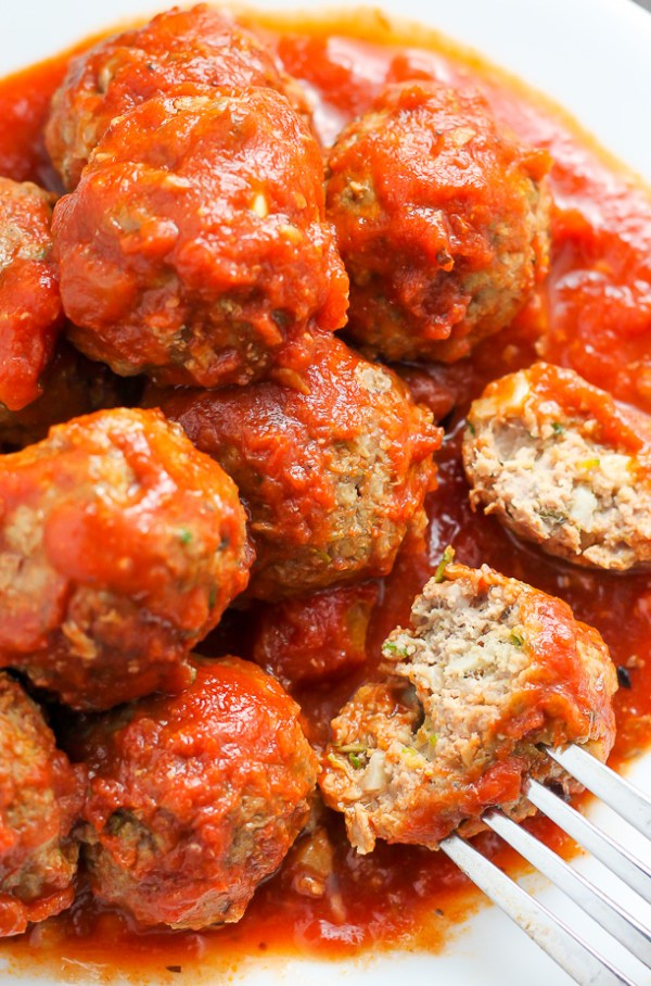 Baked Turkey Zucchini Meatballs Baker by Nature