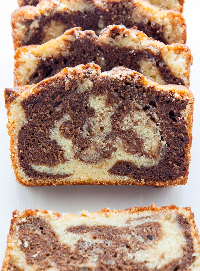 Marble Pound Cake - Baker by Nature