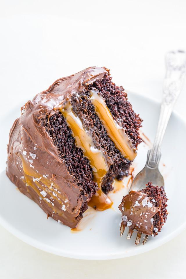Easy Chocolate Salted Caramel Cake