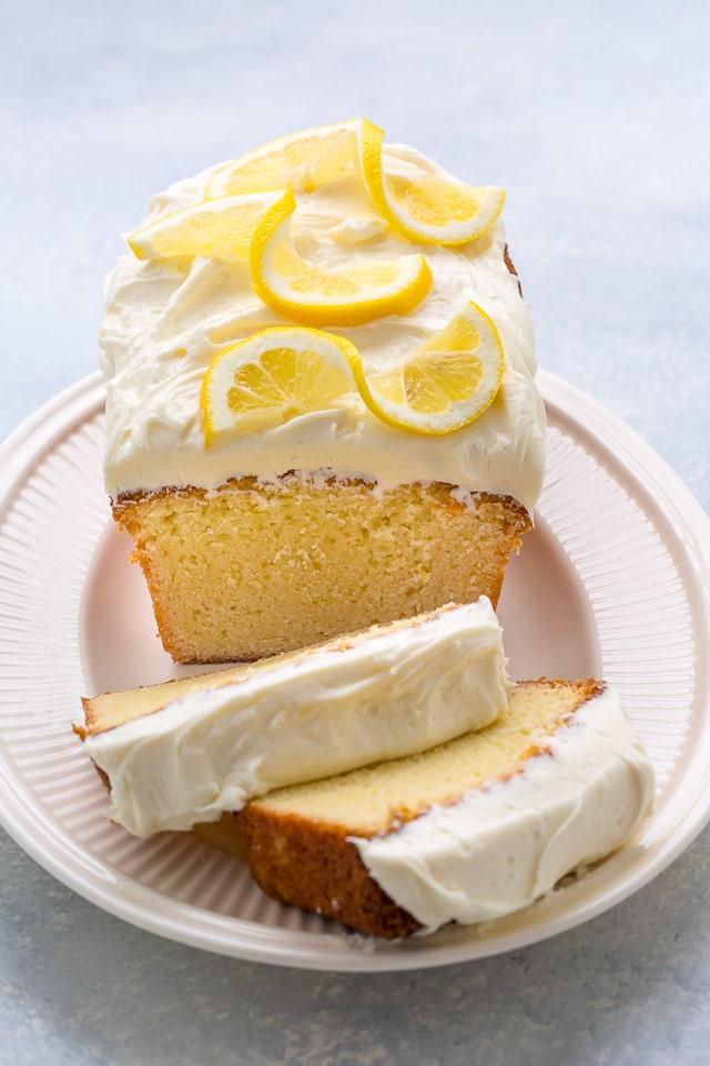 Lemon Pound Cake With Lemon Cream Cheese Frosting Baker