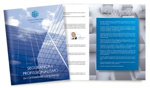 Folder para escritório de advocacia e contábil de São Paulo - SP