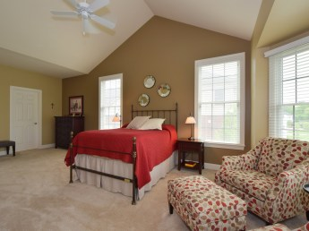 Master Bedroom with Cathedral Ceiling