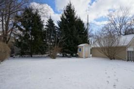 Snowy Rear Yard