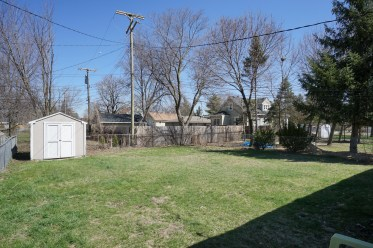 Fenced Rear Yard with Shed