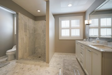 Carrara Marble Master Bathroom