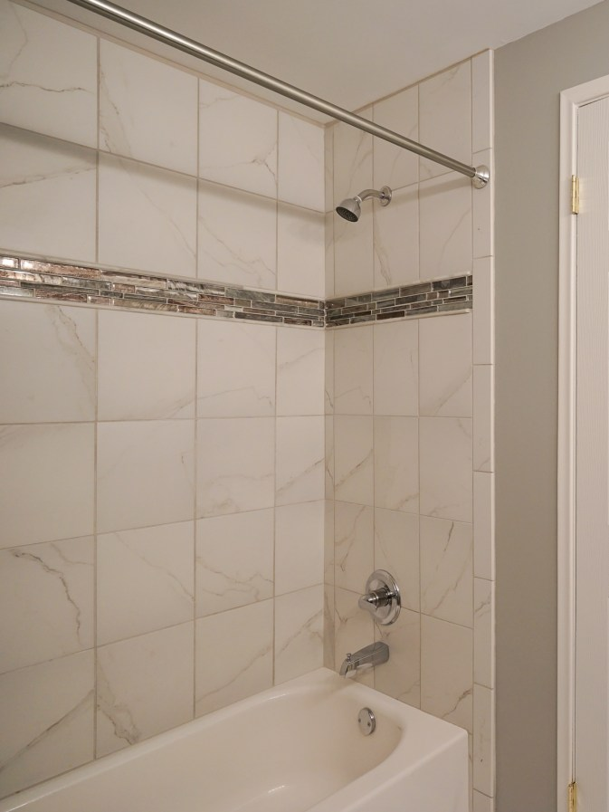 Hall Bath w New shower & tile