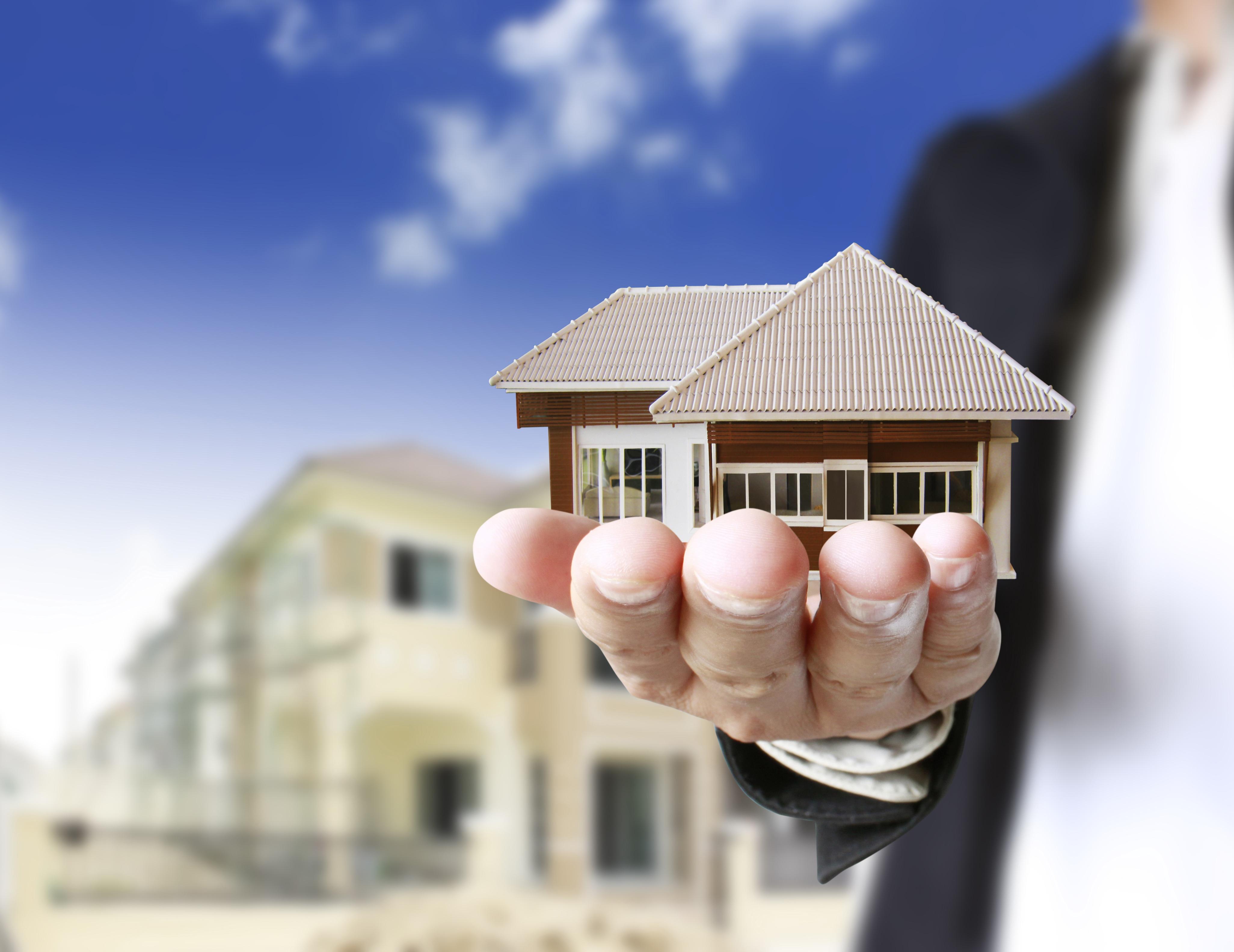 hand holding model of house