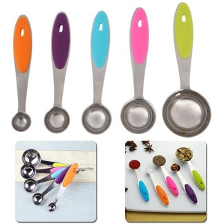 measuring spoon sets, measuring spoons, baking, coffee, tea, cooking,
