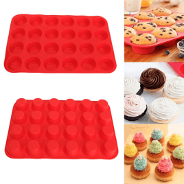 silicone cupcake mold, mini silicone cupcake liners