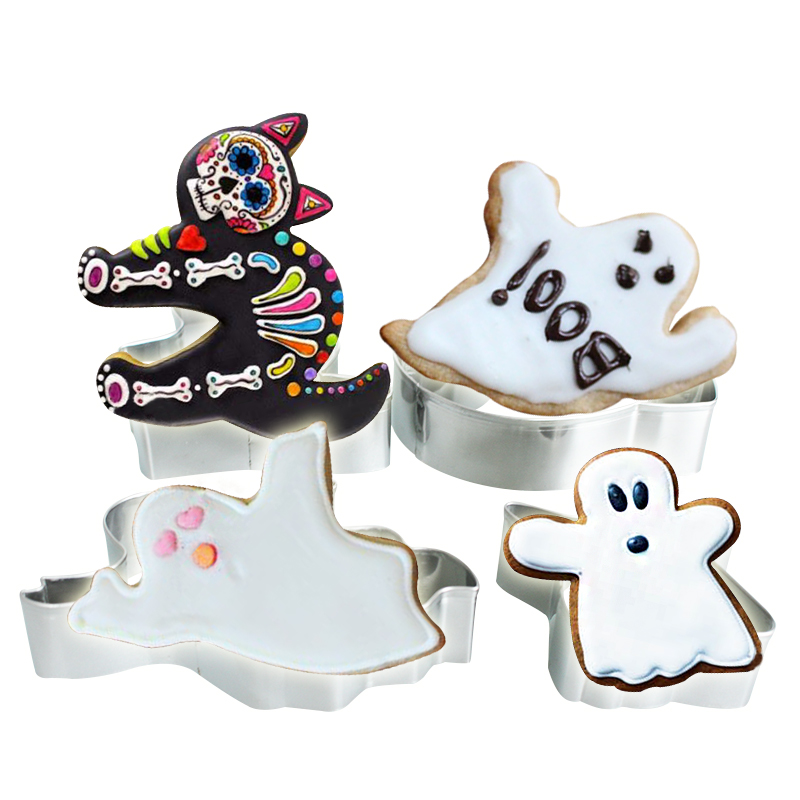 4pcs halloween cookie cutters