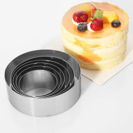 6 pcs Mousse Cake Rings Stainless Steel 2.5 to – 4.6 inches