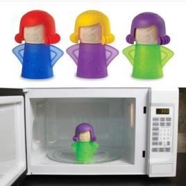 Angry Mama Cleaning Microwave Cleaner