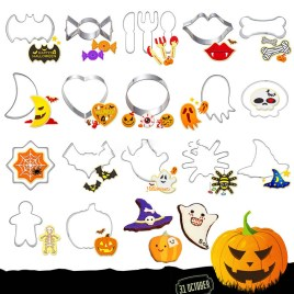 Halloween Cookie Cutters Bat | Ghost | Pumpkin