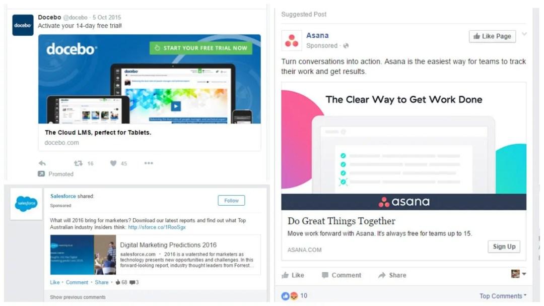 Social media advertising examples