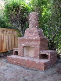 Stone Outdoor Fireplaces | Brick Outdoor Fireplaces ...