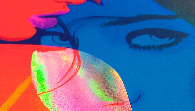 girls rainbow foil art